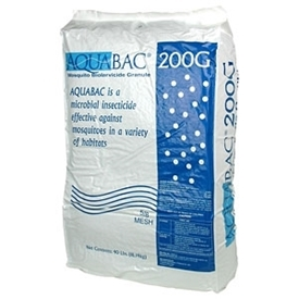 AquaBac 200G Bti Granular Biological Mosquito Insecticide, Becker Microbial